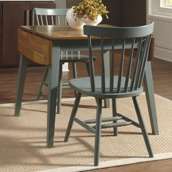 Superior $500.00 Add To Cart; Bantilly 3 Piece Blue Drop Leaf Table Set With Blue  Side Chairs