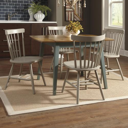 bantilly 5 piece blue drop leaf table set with gray side chairs - Drop Leaf Table Kitchen