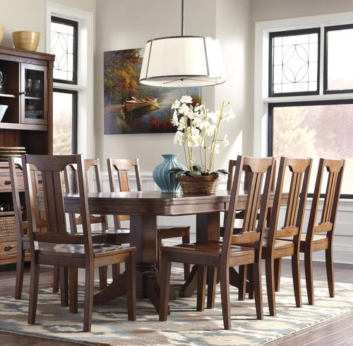 Chimerin 9 Piece Oval Dining Room Extension Table Set