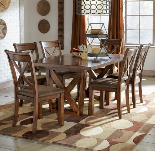 Waurika 11 Piece Extension Table Set By Signature Design  : D644 45 6x01 from www.hargapass.com size 500 x 489 jpeg 47kB