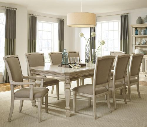 Signature Design By Ashley Home Demarlos 9 Piece Extension Table Set With Arm Chairs