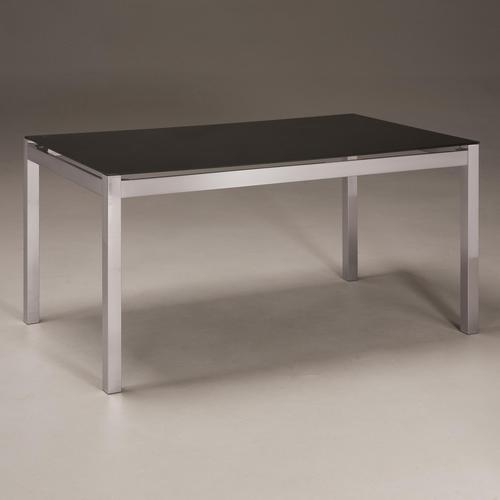 Baraga Rectangular Dining Table With Black Print Tempered Glass Top