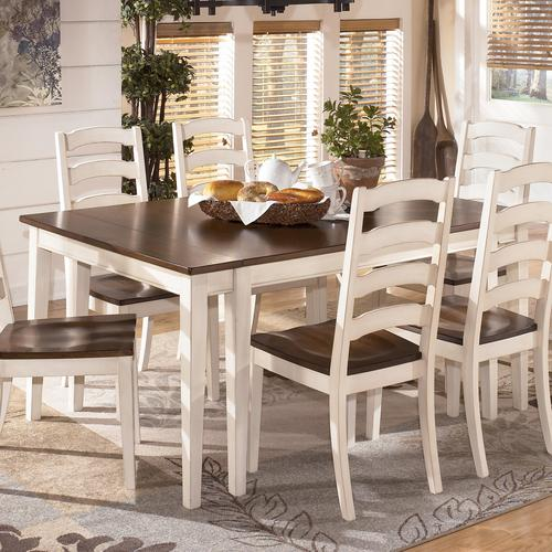 Superb Whitesburg Two Tone Cottage Rectangular Dining Room Extension Table