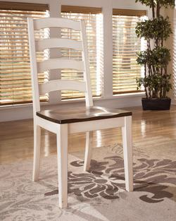67000 Add To Cart Whitesburg Dining Room Side Chair W Two Tone Finish Ladder Back