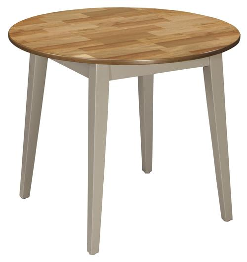 By Ashley Bantilly Round Dining Room Table With Gray Finish Base