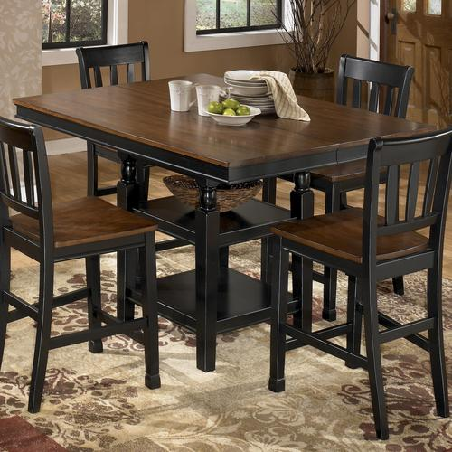 Signature design by ashley owingsville square dining room for 32 wide dining table