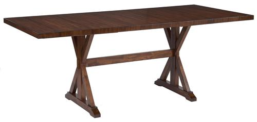 Signature design by ashley waurika rustic rectangular for 32 wide dining table