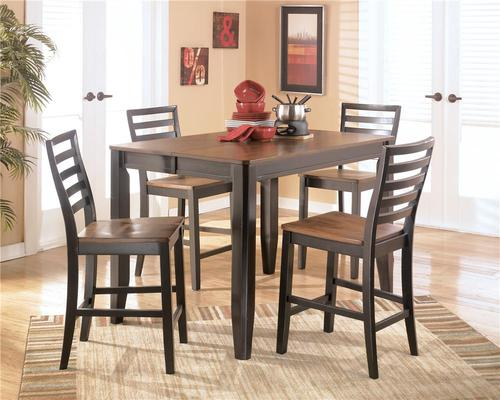 Alonzo Five Piece Counter Height Table With Butterfly Leaf Set