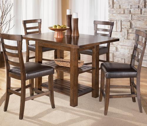 Signature design by ashley pinderton 5 piece square counter height pinderton 5 piece square counter height table with extentions ladderback bar stool set watchthetrailerfo