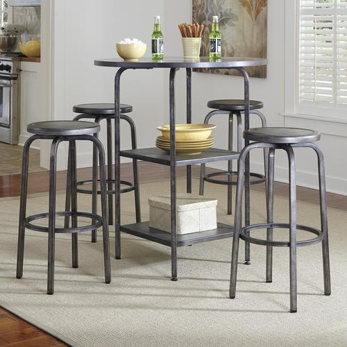 Hattney Industrial Style 5 Piece Bar Table Set