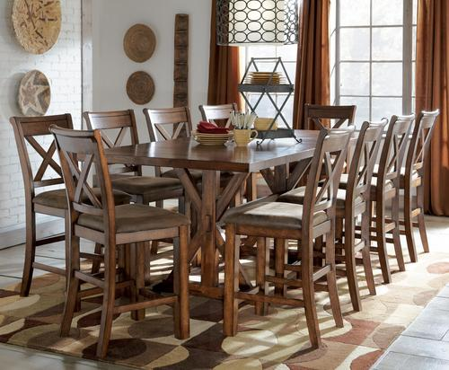 Signature design by ashley waurika 11 piece counter for 11 piece dining table set
