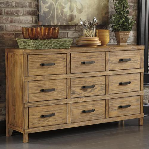 signature designashley mestler honey pine dining room server
