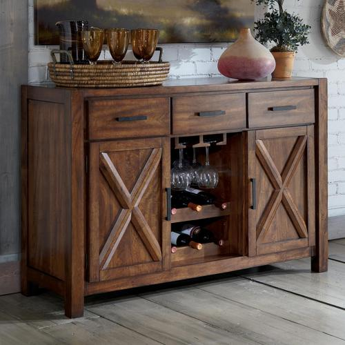 Waurika Dining Room Server With Wine Rack