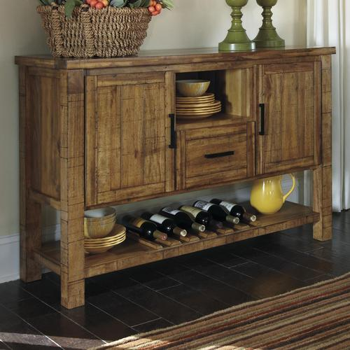 Signature design by ashley krinden rustic dining room for Wine and design west ashley