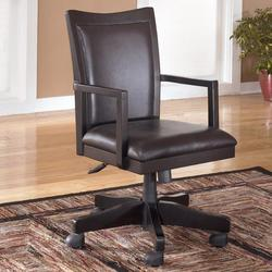 Carlyle Upholstered Office Arm Chair with Rolling Swivel Base and Adjustable Height