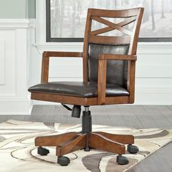 Burkesville Home Office Desk Chair with X-Back Detail