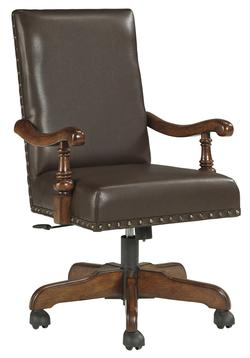 Gaylon Traditional Home Office Swivel Desk Chair