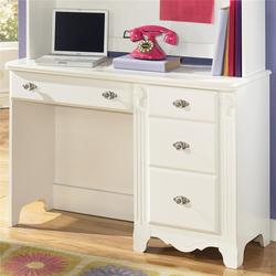 Exquisite Single Pedestal Antique Styled 4 Drawer Child's Desk