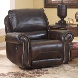 ... Dexpen - Saddle Leather Match Swivel Glider Recliner with Rolled Arms u0026 Nail Head Trim & Signature Design by Ashley Dexpen - Saddle Leather Match Double ... islam-shia.org