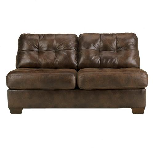 Signature Design By Ashley Frontier Canyon Tufted Faux Leather Armless Loveseat