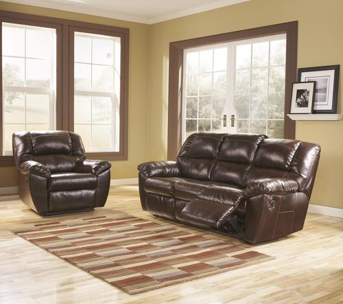 Signature design by ashley rouge durablend mahogany for Mahogany living room ideas