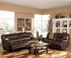 Signature Design By Ashley Exhilaration Chocolate Contemporary 2 Seat Reclining Leather Sofa