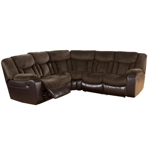 Signature Design by Ashley Tafton - Java Double Reclining Sectional Loveseats with Wedge