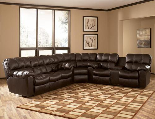 Max - Chocolate 3 Piece Casual Motion Sectional : ashley chocolate sectional - Sectionals, Sofas & Couches