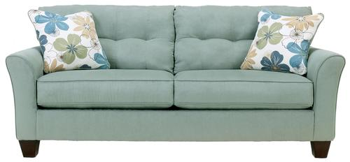 Kylee Lagoon Onless Tufted Two Cushion Sofa