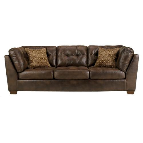 Signature Design By Ashley Frontier Canyon Tufted Faux Leather Sofa