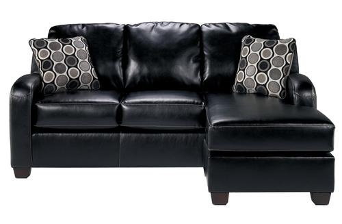 Signature design by ashley devin durablend black for Ashley durablend chaise