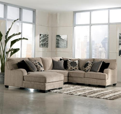 Signature Design By Ashley Katisha Platinum 4 Piece Sectional Sofa With Left Chaise