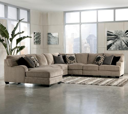 Signature design by ashley katisha platinum 5 piece for 5 piece sectional sofa with chaise