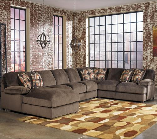 Truscotti - Cafe Contemporary 4-Piece Sectional with Armless Sofa u0026 Left Chaise : 4 piece sectional with chaise - Sectionals, Sofas & Couches