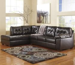 Alliston DuraBlend® - Chocolate Right Facing Sectional w/ Tufting