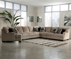$1,761.75; Katisha   Platinum 5 Piece Sectional Sofa With Left Cuddler