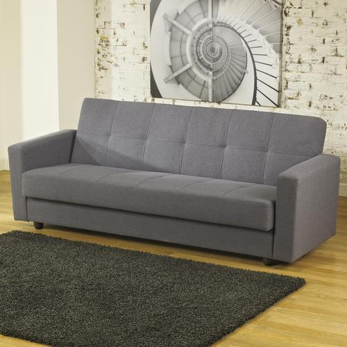 Pikka Gray Contemporary Flip Flop Sofa With Track Arms