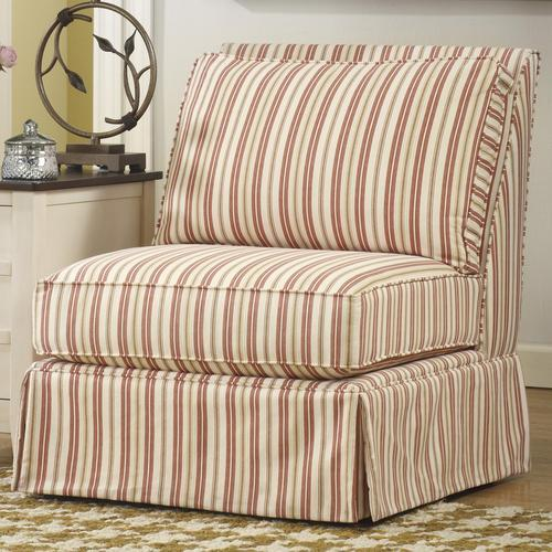 Signature design by ashley lucretia accent 2 striped for Striped chairs living room