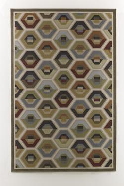 Contemporary Area Rugs Hannin - Multi Medium Rug