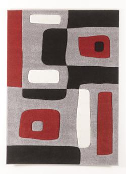 Contemporary Area Rugs Geo - Red Medium Rug