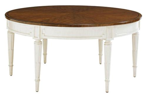 Fairfax Round Cocktail Table With Cherry Cathedral Veneer