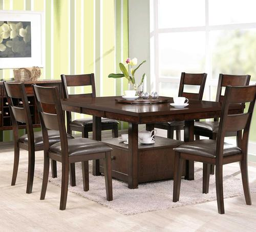 Superieur Gibson GB 7 Piece Dining Set With Square Storage Table