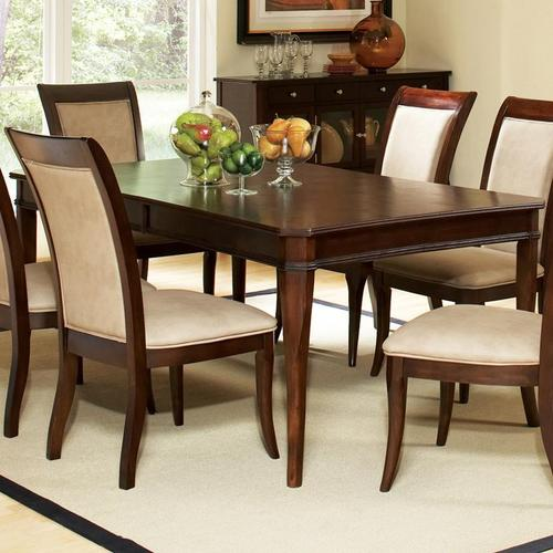 steve silver marseille transitional rectangular dining table with 18