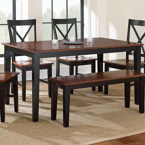 steve silver kingston casual rectangular dining table
