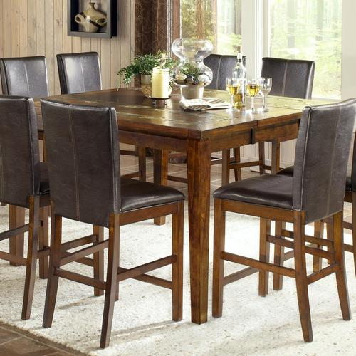 Steve Silver Davenport Transitional Counter Height Table With Slate - Dining table with slate inlay