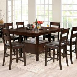 Go To Product · Gibson GB 7 Piece Pub Set With Lazy Susan Storage Table And  Ladderback Counter Chairs