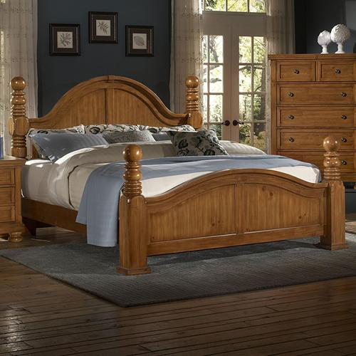 Vaughan bassett reflections king cannonball poster bed for Discontinued bassett bedroom furniture