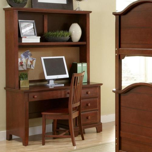 Vaughan bassett hamilton franklin computer desk hutch for Home style furniture hamilton