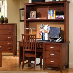 Twilight Desk with Three Drawers & Computer Hutch