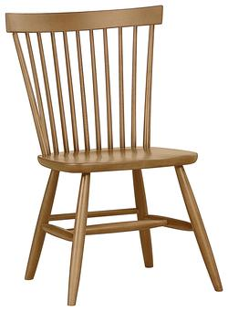 Aspirations - Solid Pine Solid Wood Desk Chair with Spindle Back